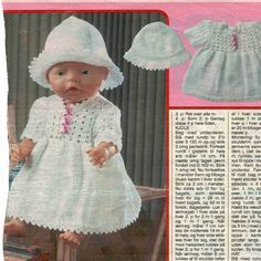 Knitting Dolls Clothes, Knitted Dolls, Barbie Clothes Patterns, Clothing Patterns, Baby Boy Knitting Patterns, Baby Born, Barbie Dolls, American Girl, Barn