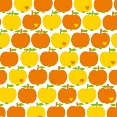 bygraziela Apfel Baumwollstoff Orange