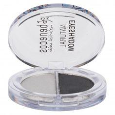 $5 coupon code: HLD630 -- Benecos, Natural Duo-Eyeshadow, Shady Grays. #crueltyfree #vegan #eyeshadow #makeup #smokyeyes