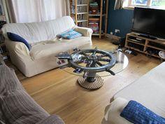 ship wheel coffee table