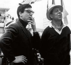 Azcona con Luis García Berlanga en el rodaje de 'El verdugo'