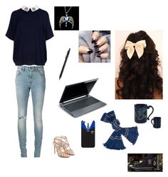 """Cute Ravenclaw :)"" by haileyscomet95 ❤ liked on Polyvore featuring Paul Andrew, Yves Saint Laurent, Ted Baker and Converse"