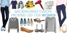 Backpacking Europe Packing List for Women — Female Travel Europe Packing Guide