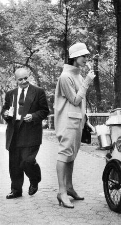 Givenchy's bag dress, 1957