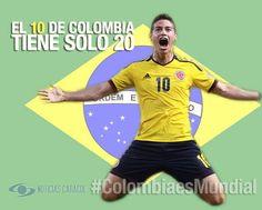 #ColombiaesMundial Un homenaje al 10 de la Selección Colombia: James Rodríguez  Con apenas 20 años recibió la camiseta más simbólica del fútbol colombiano y gracias a su entrega y talento se consagró. Hoy es una de las estrellas de Brasil 2014. http://www.golcaracol.com/futbol-de-america/eliminatorias-mundial-2014/video-279168-un-homenaje-al-10-de-la-seleccion-colombia-james-rodriguez