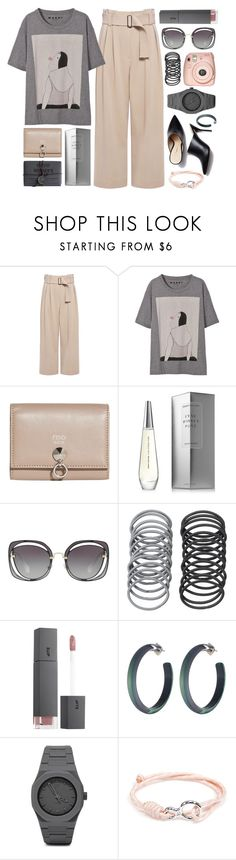 """愛情"" by moneanemone ❤ liked on Polyvore featuring Hudson Made, A.L.C., Marni, Fendi, Issey Miyake, Miu Miu, Fuji, Bite, Alexis Bittar and CC"