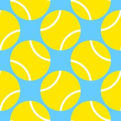 tennis balls fabric by sef on Spoonflower - custom fabric Tennis Tips, Sport Tennis, Tennis Wallpaper, Tennis Crafts, Tennis Posters, Tennis Party, Tennis World, Custom Fabric, Pets