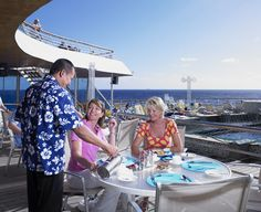 Enjoy a relaxing breakfast out on deck onboard Balmoral, Fred. Olsen Cruise Lines.