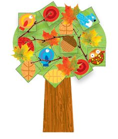 Download our Collage a Tree printable and bring the beauty of fall indoors!