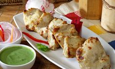 Holiday Snacks: Classic Indian Chicken Malai Tikka.... A chicken snack that will melt in your mouth! A perfect holiday appetizer.