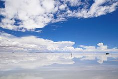 Uyuni salt lake in Bolivia. ボリビア ウユニ塩湖