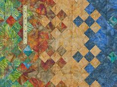 Batik Blooming Nine Patch  Quilt Photo 5