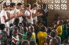 Harry Styles Tweets Pic of One Direction in Ghana, Africa for Red Nose Day
