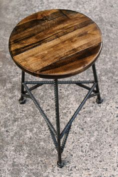 Reclaimed Wood Bar Stools Metal Bar Stools by PrecisionHomeDecor