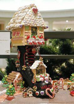 Elaborate Gingerbread Houses | Elaborate gingerbread houses evoke the magic of Christmas - Tulsa ...