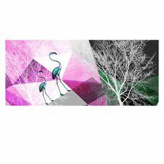 "Pia Schneider ""FLAMINGO P22"" Pink Geometric Luxe Rectangle Panel"