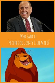 Who Said It: Prophet or Disney Character? This is a free download to play with your friends & family! Great for a Young Women activity, or combined Young Men/Young Women activity, or even a Family Home Evening activity.: