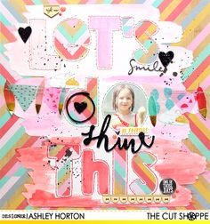 """The Cut Shoppe: Let's Do This by Ashley Horton uses """"Graffiti Greetings"""" cut file from The Cut Shoppe."""