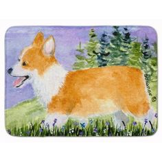 East Urban Home Corgi Memory Foam Bath Rug