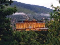 Nestled among the monasteries and mountain passes of Bhutan's remote Thimpu Valley, the 66 thoughtfully-designed rooms at this palatial retreat come with Buddhist murals and staggering views of the Himalayas.