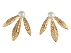 Emily Elizabeth Jewelry Diana Stud Earrings 14K Gold Plated - Zappos.com Free Shipping BOTH Ways