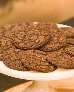Grammy's Chocolate Cookies - These are rolled in granulated sugar before backing so they have a nice crackle on the outside but are still chewy.