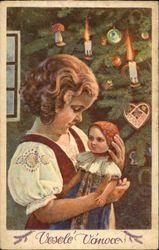 """Czech Christmas card"".  - Vesele Vanoce, Merry Christmas, Feliz Navidad...   (lbk)"