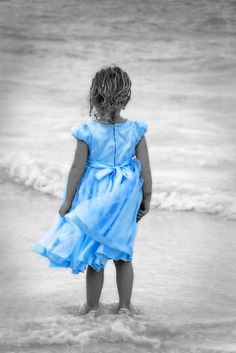 Little girl in blue