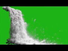 waterfall simulation realistic 100% green screen footage