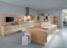 Modern Light Wood Kitchen Cabinets #TT191 (Alno.com, Kitchen-Design-Ideas.org)