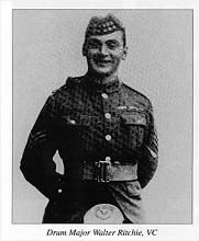 Victoria Cross winner Drummer Walter Ritchie, 2nd Seaforth Highlanders, battle of the Somme, France, 1st July 1916s