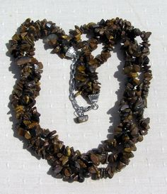 Gold Tiger Eye GemChip Crystal Necklace  by SunnyCrystals on Etsy, £13.75