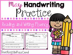 May Reading and Handwriting PracticeSave BIG by purchasing the GROWING BUNDLE : GROWING BUNDLE Handwriting Practice All Year   Kids learn to write better by reading and learn to read better by writing. Writing has such an important role for students to be better at reading.Every page has 2-3 sentences tracing, reading and re-write the reading passages.