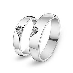 Personalized Half Heart Shaped Promise Rings by onlyuniquegifts, $49.00