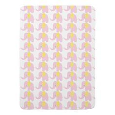 Yellow & Pink Baby Mod Elephant Baby Blanket