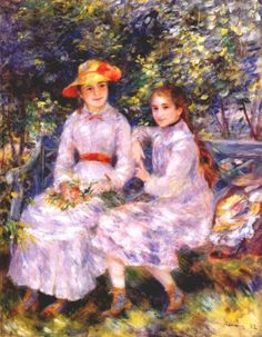 Spring day in the Park.  Pierre-Auguste Renoir was a French artist who was a leading painter in the development of the Impressionist style.   Born: February 25, 1841, Limoges