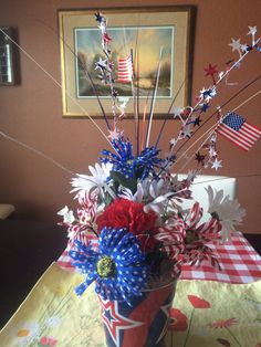 The centerpiece I made that I can use over and over again this summer.