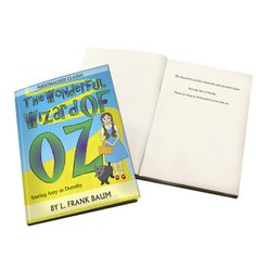 If you know someone who loves the classics, or a budding book lover then our Personalised Wizard of Oz book is the perfect gift. This novel can be personalised with your chosen name staring as the main character Dorothy, a real twist to the story! As well as changing the name of the star, you can also add a personal message inside the book of up to 50 characters long. Measuring 15 x 20.5 x 2cm this classic novel features the full story of The Wizard of Oz, with just your character name…
