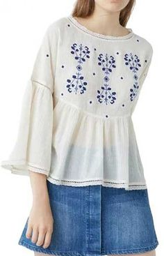 Specifications: Gender:Women Decoration:Embroidery Collar:O-Neck Sleeve Length:Full Style:Casual Material:Spandex,Viscose,Polyester Pattern Type:Floral Fabric Type:Chiffon Clothing Length:Regular Size