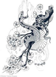 100 Japanese Tattoo Designs I By Jack Mosher Aka Horimouja Japanese Snake Tattoo, Japanese Tattoo Symbols, Japanese Tattoo Designs, Japanese Sleeve Tattoos, Snake Drawing, Snake Art, Mascara Hannya, Flash Tattoo, Tattoo Arm