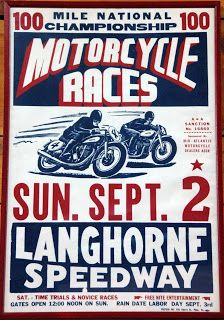 Bright prints, graphic imagery and excitement guaranteed! A couple of the race posters seen at the Wheels Through Time museum. The lower pos...