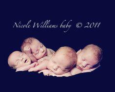 First set of quadruplets born in Savannah, GA. Found @ memoriesforkeepsake.com/blog. Photos by Nicole Williams.