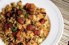 Cauliflower Dirty Rice with Andouille Sausage (Paleo) | Always Order Dessert