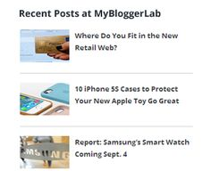 How to Display Recent Posts in Blogger