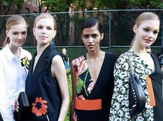 At Monday's Stella McCartney 2016 resort collection presentation in New York City, Aveda guest artist Frank Rizzieri created the easy-going, relaxed look on models like Irina Kravchenko and Mijo Mihaljcic. Rizzieri paired the low ponytails with a slightly tousled side part giving hair the perfect lived-in vibe.