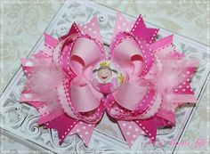 M2M Pinkalicious Fairy Hair Bow by ItsaBowsLife on Etsy, $12.99