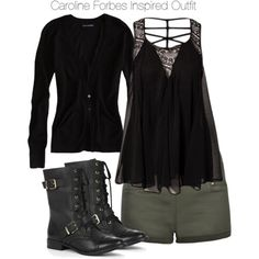 """""""The Vampire Diaries - Caroline Forbes Inspired Outfit"""" by staystronng on Polyvore"""