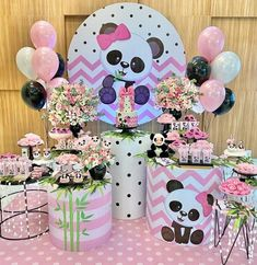 ideas for all types of festivities - Birthday FM : Home of Birtday Inspirations, Wishes, DIY, Music & Ideas Panda Birthday Party, Panda Party, Birthday Parties, 1st Birthday Banners, Birthday Decorations, Panda Baby Showers, Ideas Para Fiestas, Party Themes, Balloons
