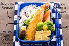 ebi fry bento, ebi fry recipe, seafood bento, shrimp bento