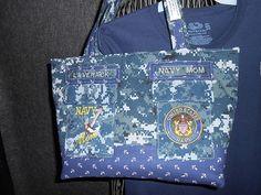 Navy Mom Lg Brag Bag